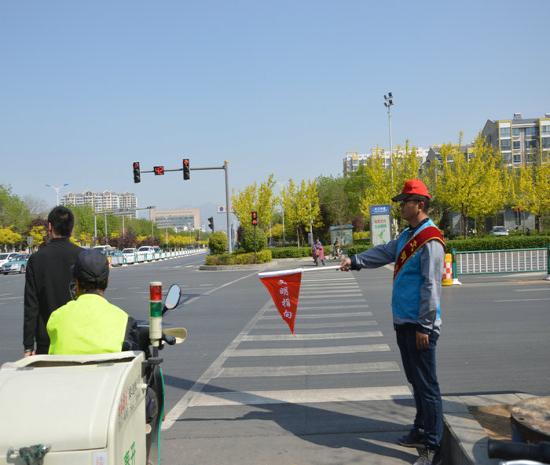 秦皇岛开发区泰盛动力有限公司创城交通志愿者,开发区